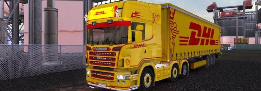 Scania R2008 50K + Trailer DHL