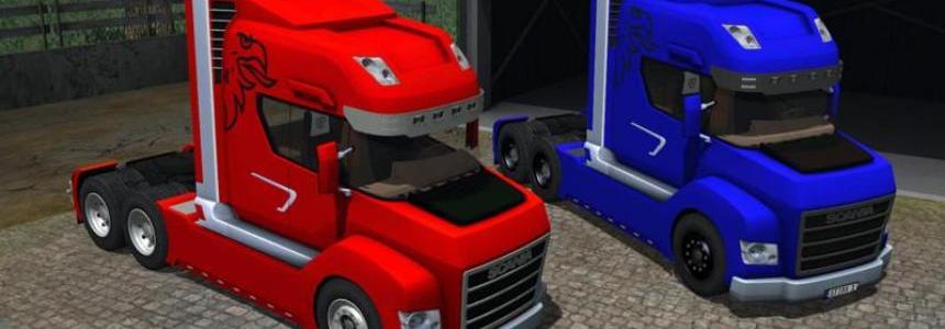Scania Stax v2.0 Rot und Blau