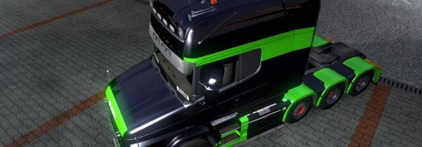 Scania T Black-Green Skin