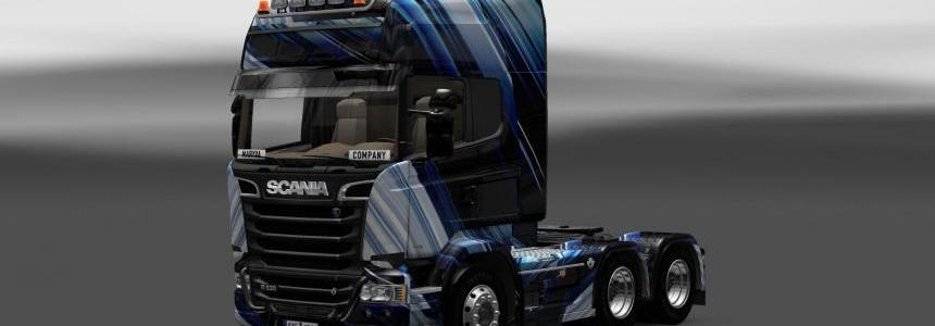 Skin Scania Streamline Blue Stripes