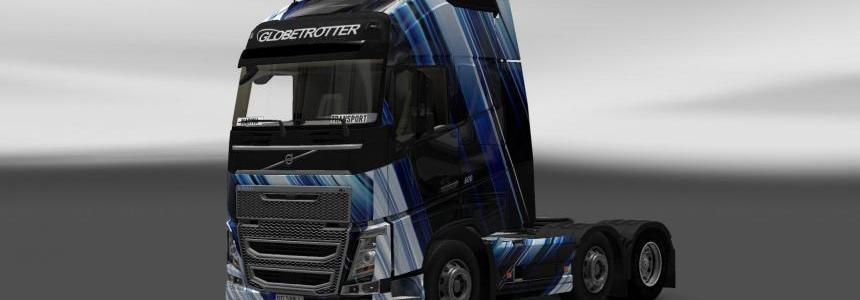 Skin Volvo FH 2012 Blue Stripes