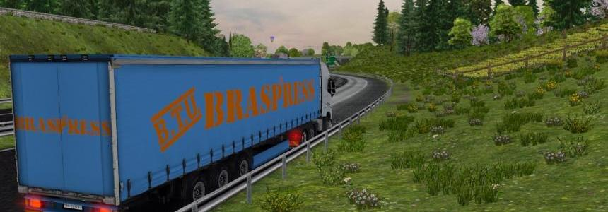 Trailer Braspress Transportes