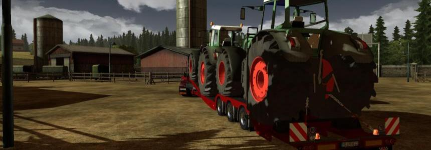 Trailer with Fendt Tractors v1.0