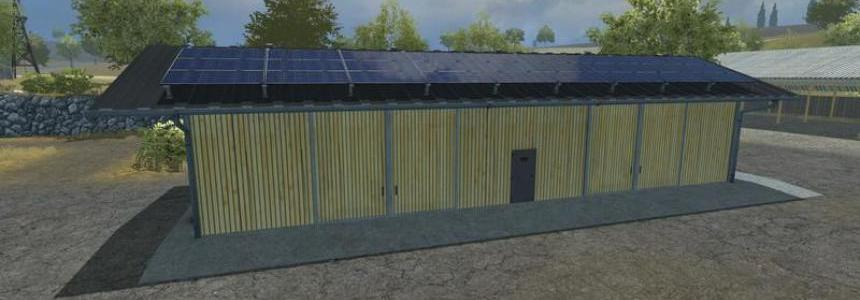 Vehicle depot with solar panel v1.0