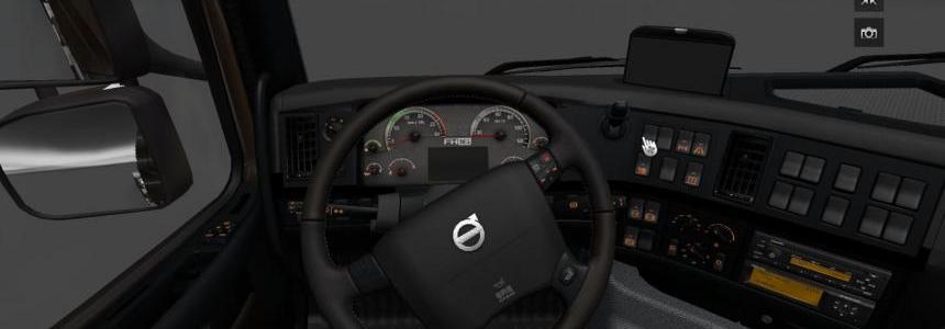 Volvo FH16 2009 Black & Grey Interior