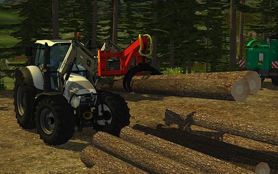 how to cut down trees in farming simulator 2015 with a chainsaw