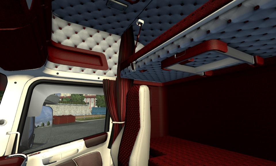Rjl 39 s scania t red white interior for Interior design simulator free