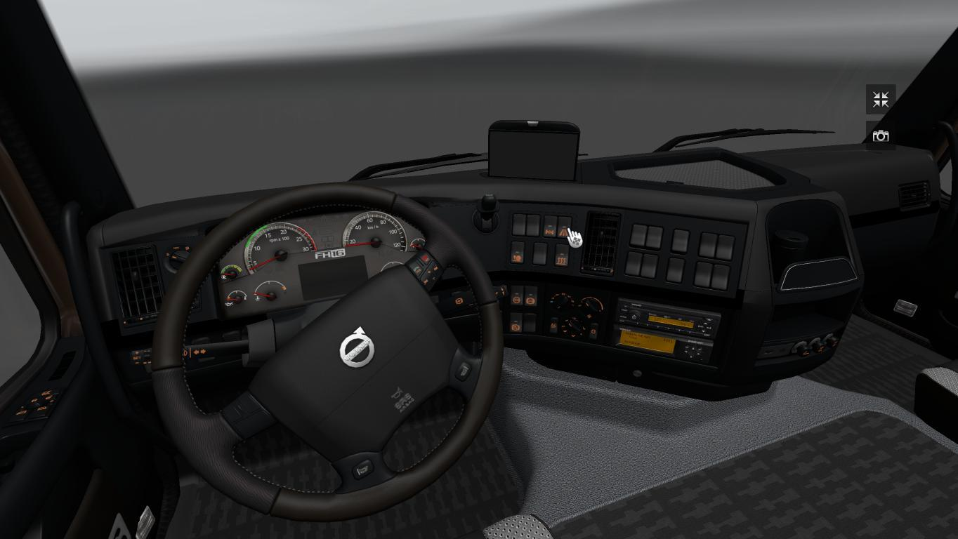 Volvo fh16 2009 black grey interior for Dark grey interior