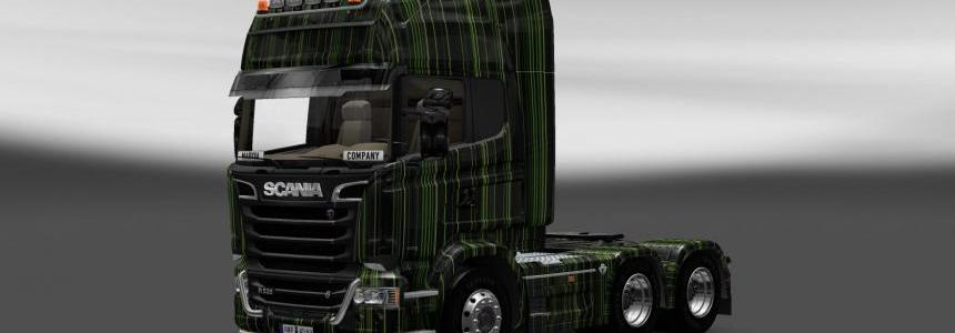 Scania Streamline Green Stripes Skin