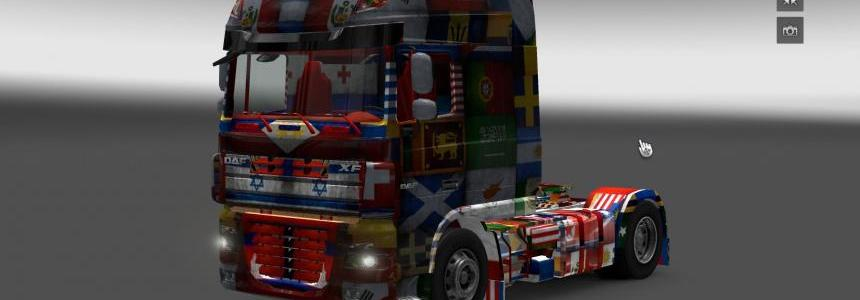 DAF XF World Flag v1.10