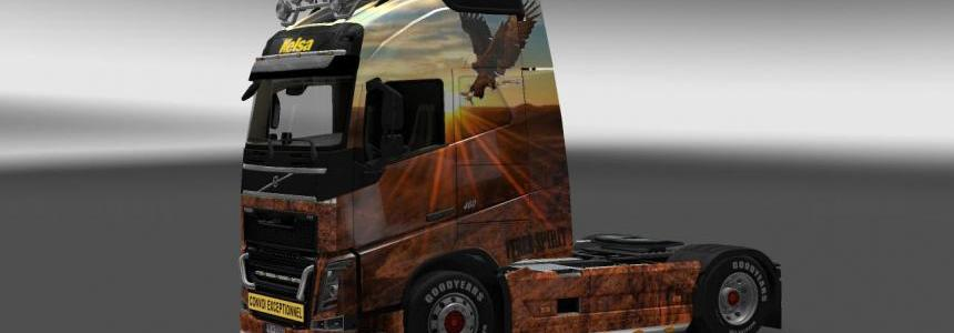 Free spirit skin for volvo FH 1.10x