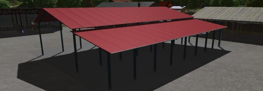 Hangar metalique ouvert