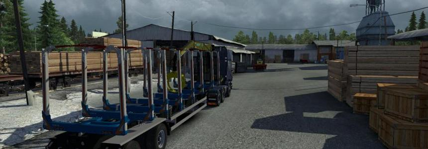 Huttner timber trailer empty v1.10
