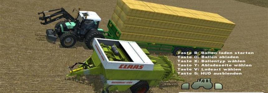 Load Claas Quaddrant 1200 bales with UBT v1.0