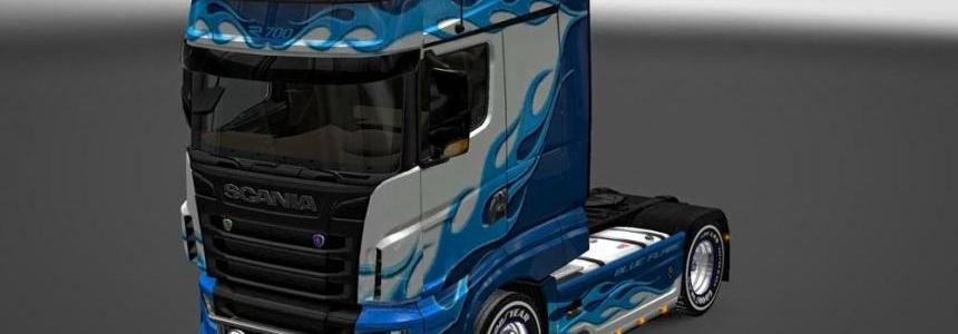Scania R700 Blue Flame Skin