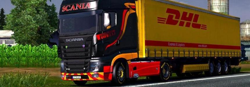 Scania R700 Pirelli Skin
