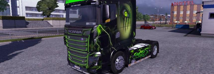 Scania R700 Zoso Monster + Grill Paint