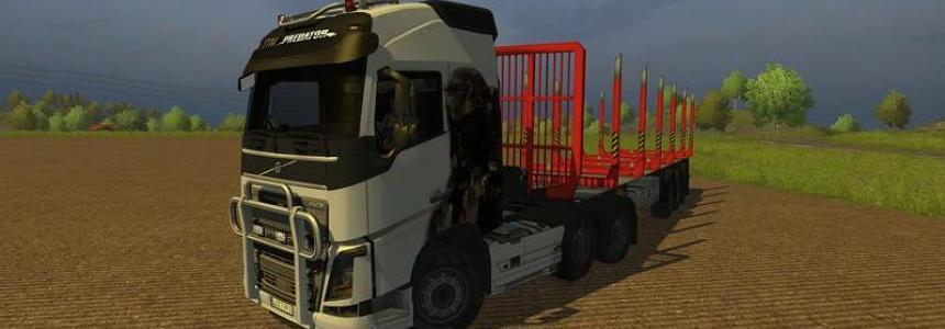 Volvo FH16 2012 Langholz mit Trailer v1.0
