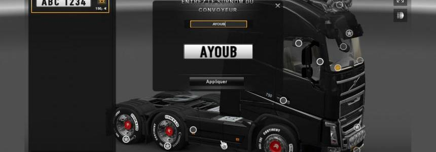 Volvo New FH 6x2 Sideskirts Punisher