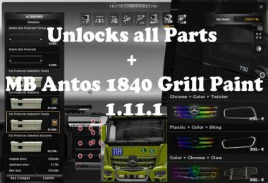 Unlocks all parts MB Antos v1.3