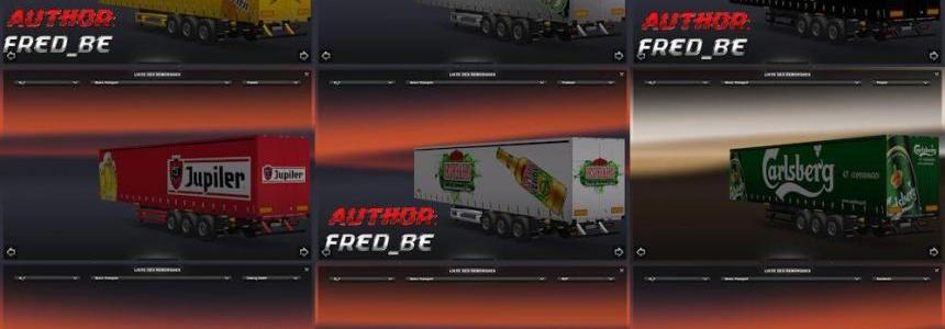 Beers Transport Trailers Pack