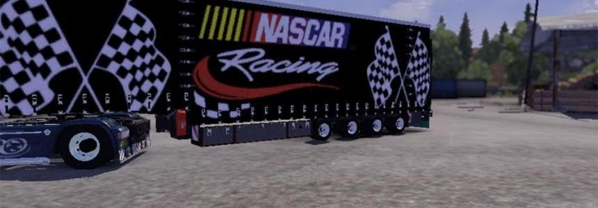 Krone Nascar Jumbo Curtain trailer (Fixed)
