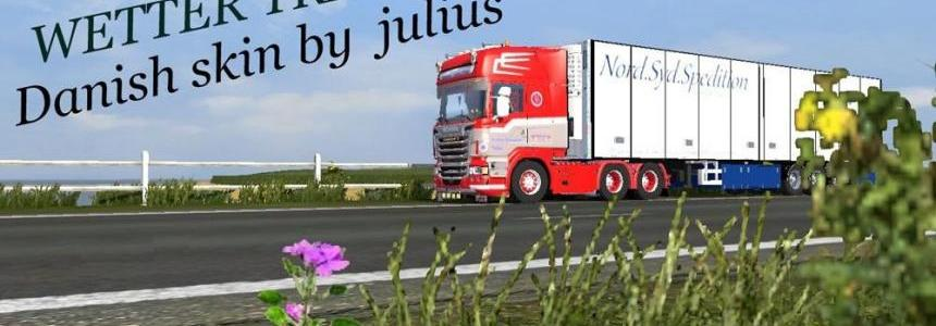 Scania Danish Wetter Transport Skin