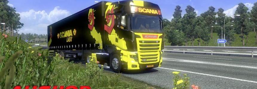 "Scania R700 + Trailer ""Scania Labs"""