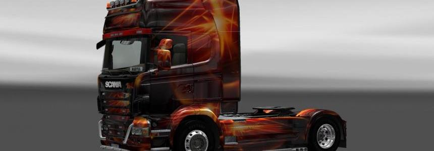 Skin Scania Fire Effect