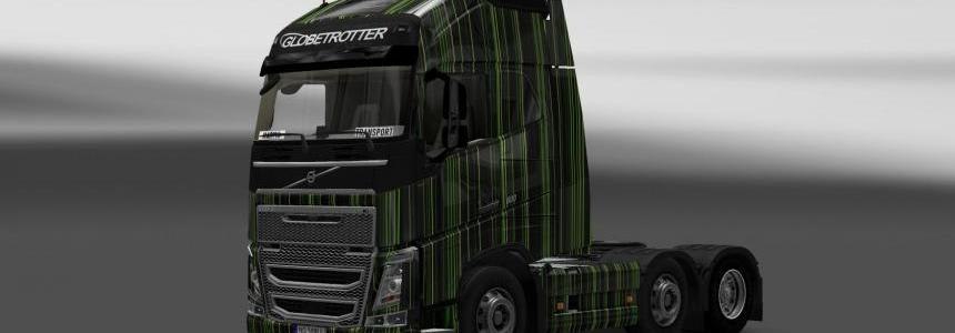 Skin Volvo FH 2012 Green Stripes