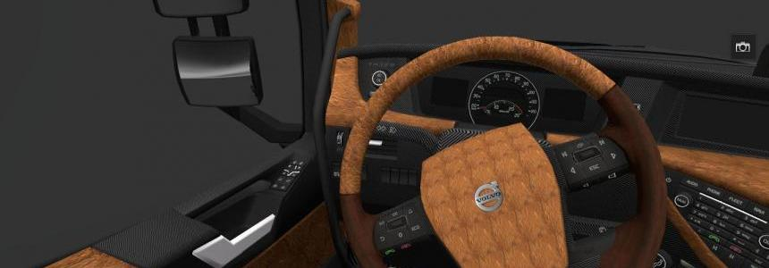 Volvo FH 16 2012 leather and carbon interior v1.0