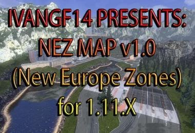 NEZ map v1.0 (New Europe Zones)
