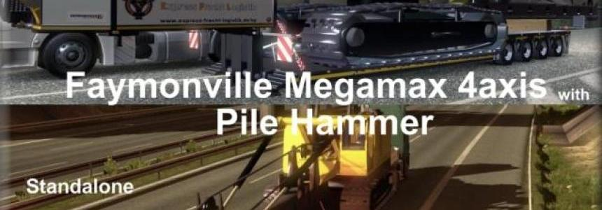 Faymonville Megamax 4axes with Pile Hammer v1