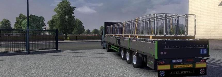 Flatbed trailer with structural steel