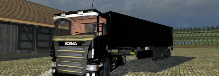 Scania r420 v1.0 Schwarz