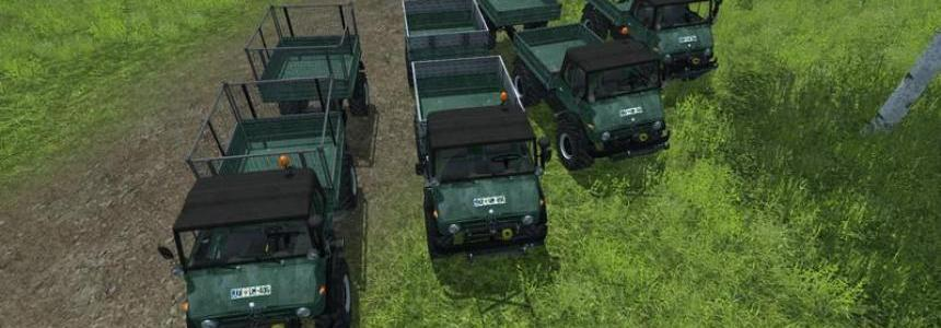 Unimog 84 Series 406 Top Trailers v1.1 Forst