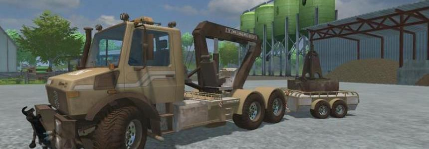 Unimog crane devices Trailer v1.0