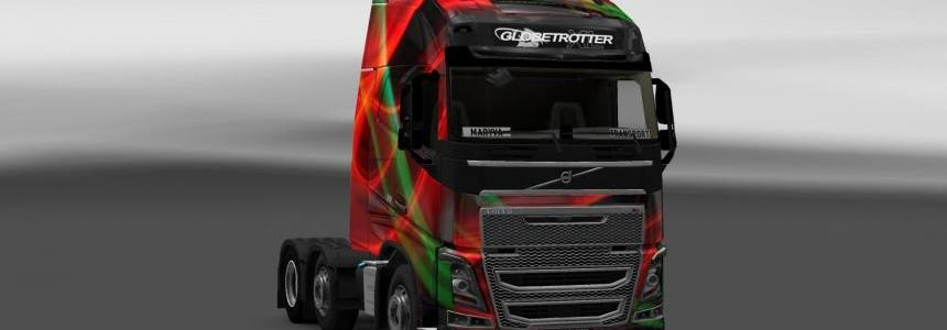 Volvo FH 2012-Iveco Hi Way Red Effect Skin