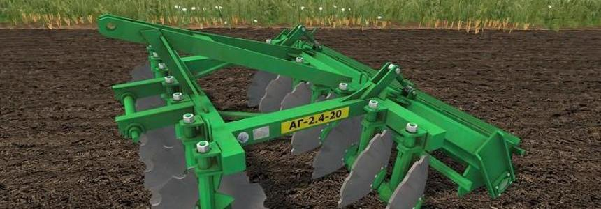 AG 2.4 20 disc harrow v1.0