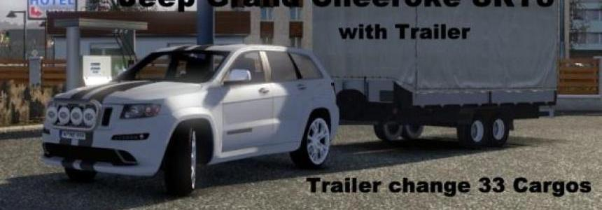 Grand Cherokee SRT8 with Trailer 1.2