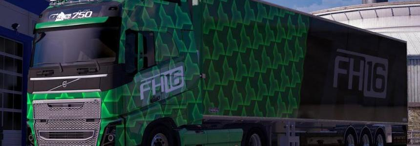 Green Volvo FH16 Combo Pack
