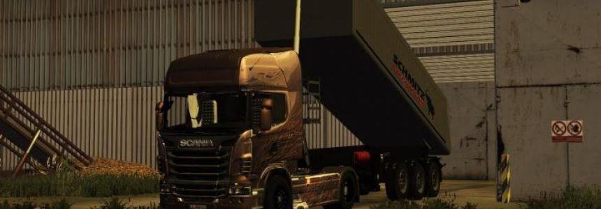 Scania R730 Black Amber v1