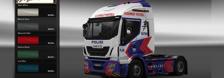 Skin Iveco HiWay police 1.10.1