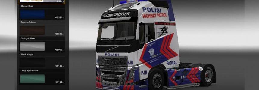 Skin Volvo fh16 Police 1.10.1