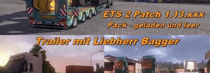 Trailer Pack with Liebherr excavator v1.13