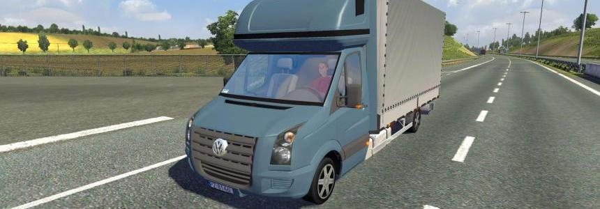 Volkswagen Crafter in traffic