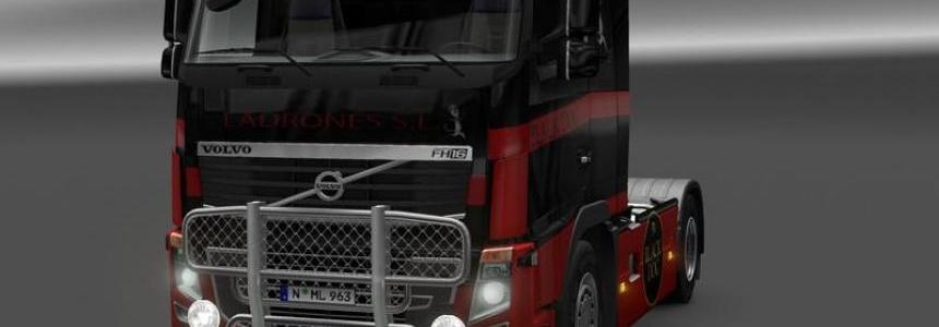 Volvo fh16 Black Red v1.0
