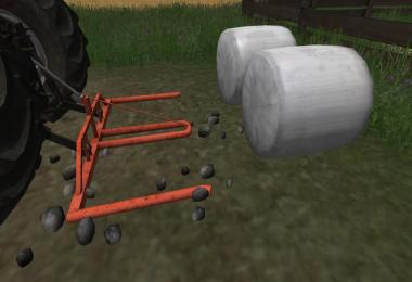 Round bale fork Double v1.0