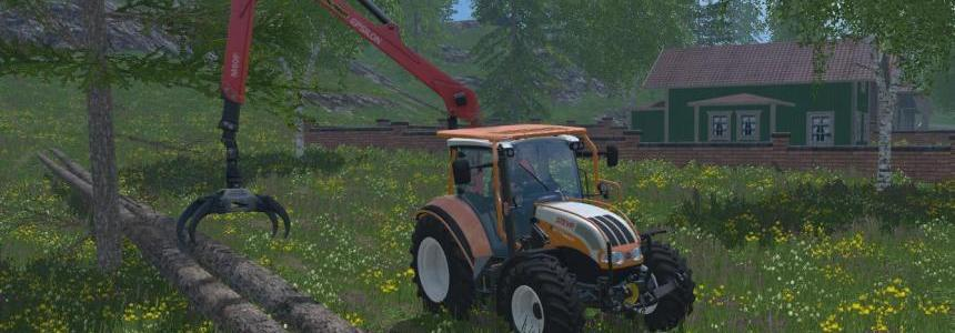 Steyr Multi 4115 with Palfinger Crane 15.0
