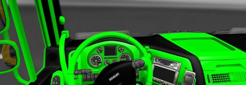 Interior DAF XF Black & Green
